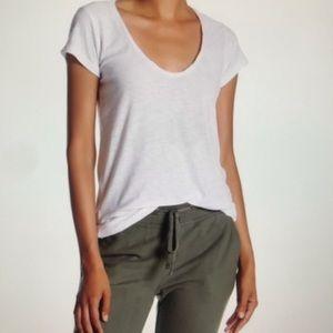 NWT James Perse Deep V Neck T Shirt Size XL